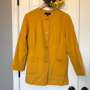 Talbots Jackets & Coats - Talbots Mustard Car Medium Length Coat